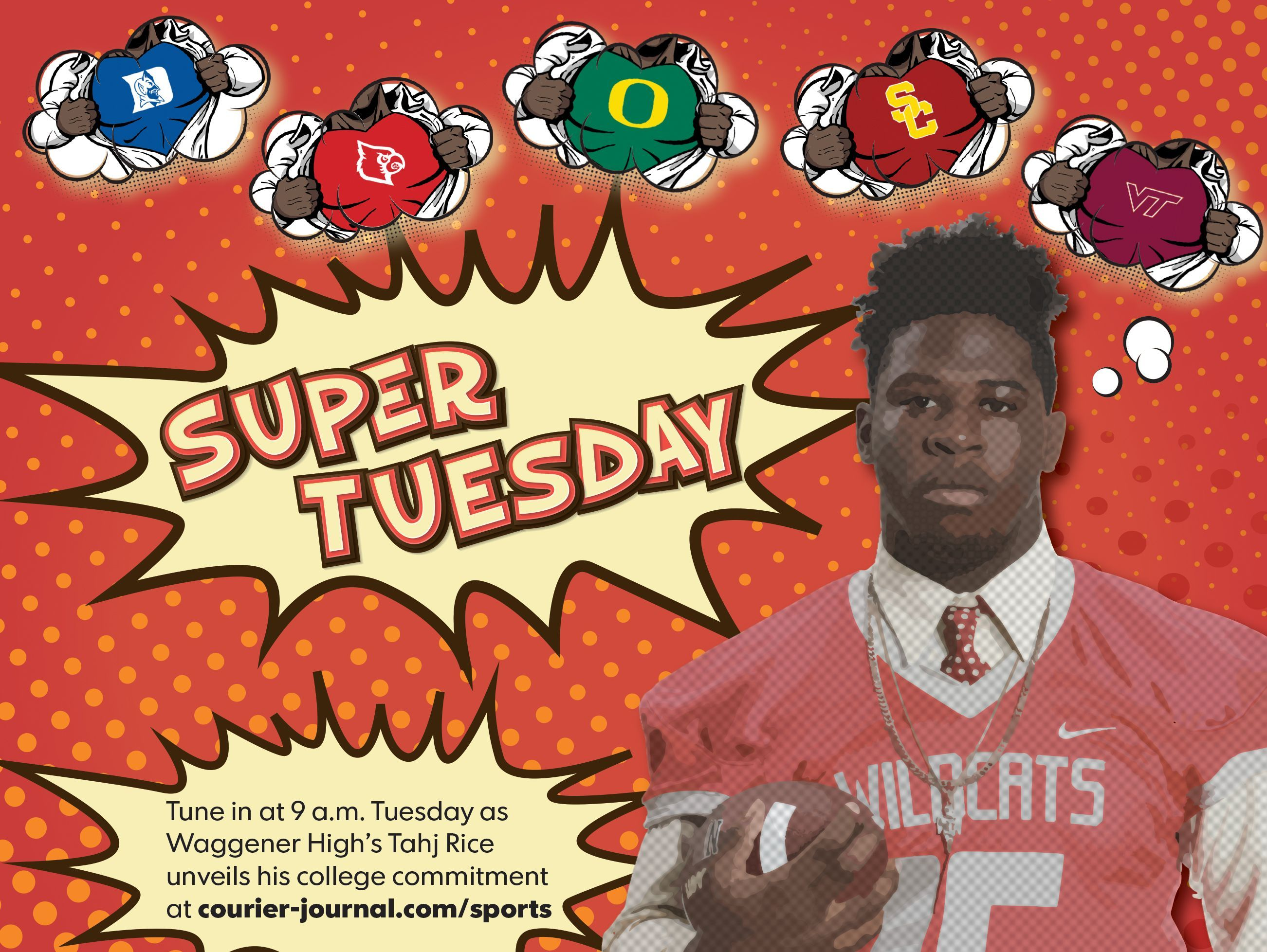 Four-star Waggener defensive end Tahj Rice will announce his college commitment at 9 a.m. Tuesday.
