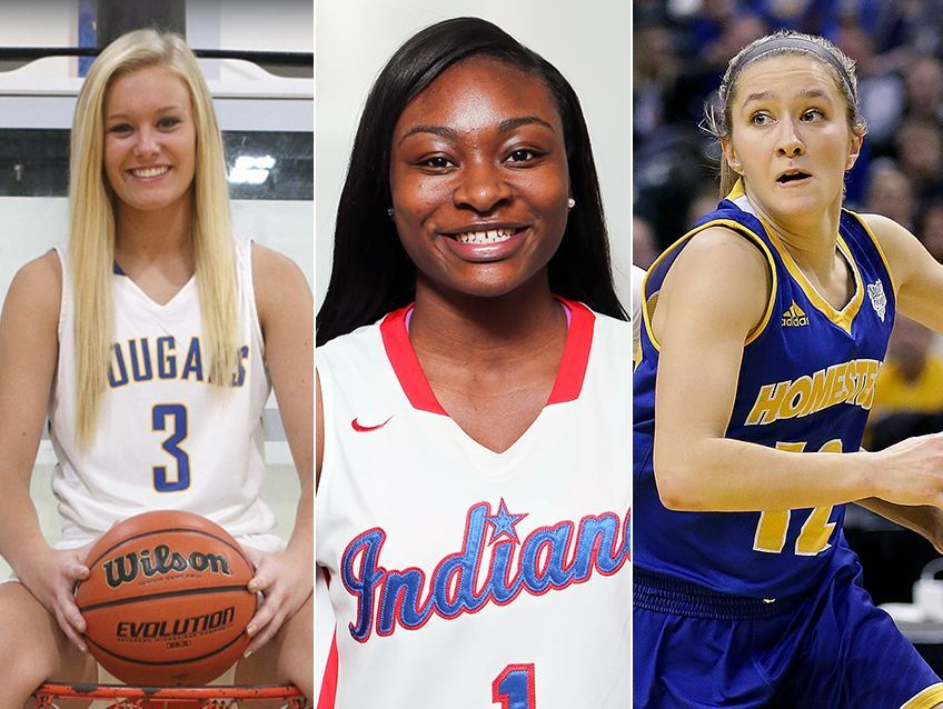 Left to right: Madison Wise, Dana Evans and Karissa McLaughlin are finalists for 2017 IndyStar Miss Basketball, presented by the Indiana Fever.