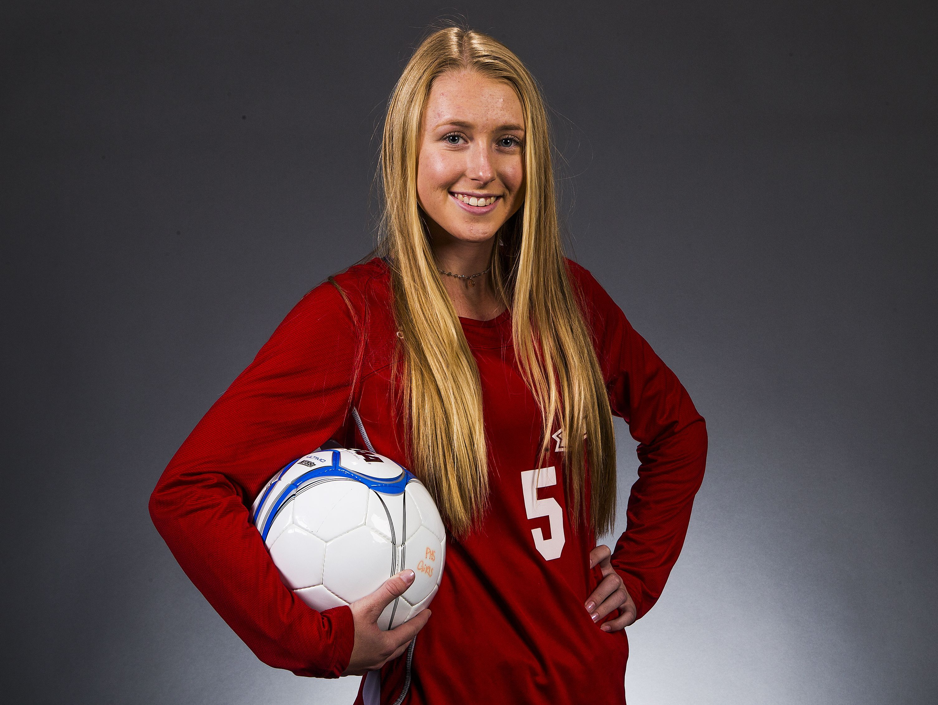 Phoenix Arcadia junior striker Kalena Teufel is a finalist for the azcentral.com Sports Awards Big Schools Girls Soccer Athlete of the Year award.