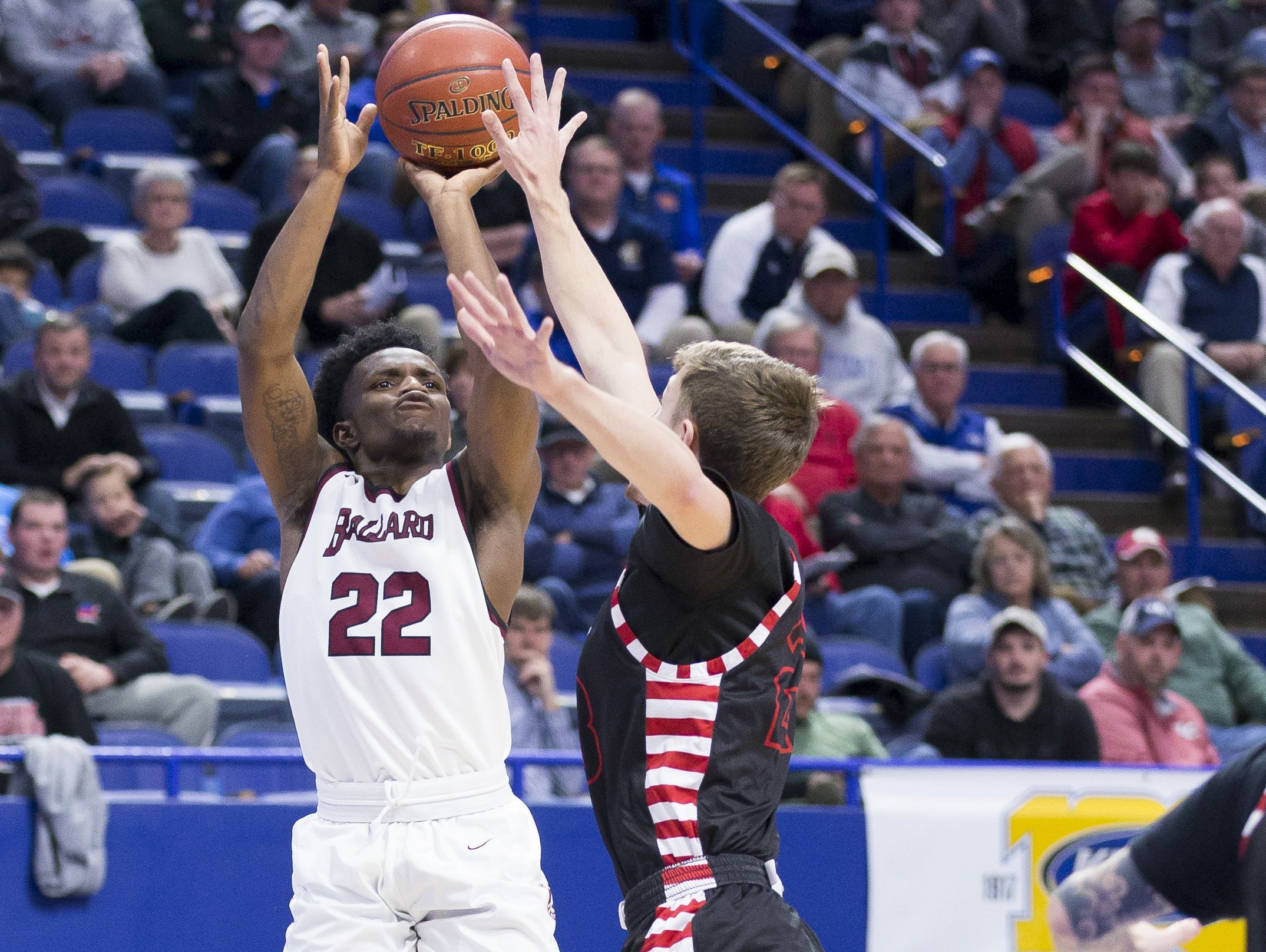 Ballard's Jamil Wilson shoots the ball during the first round game of the KHSAA Boy's Sweet Sixteen against Taylor County.