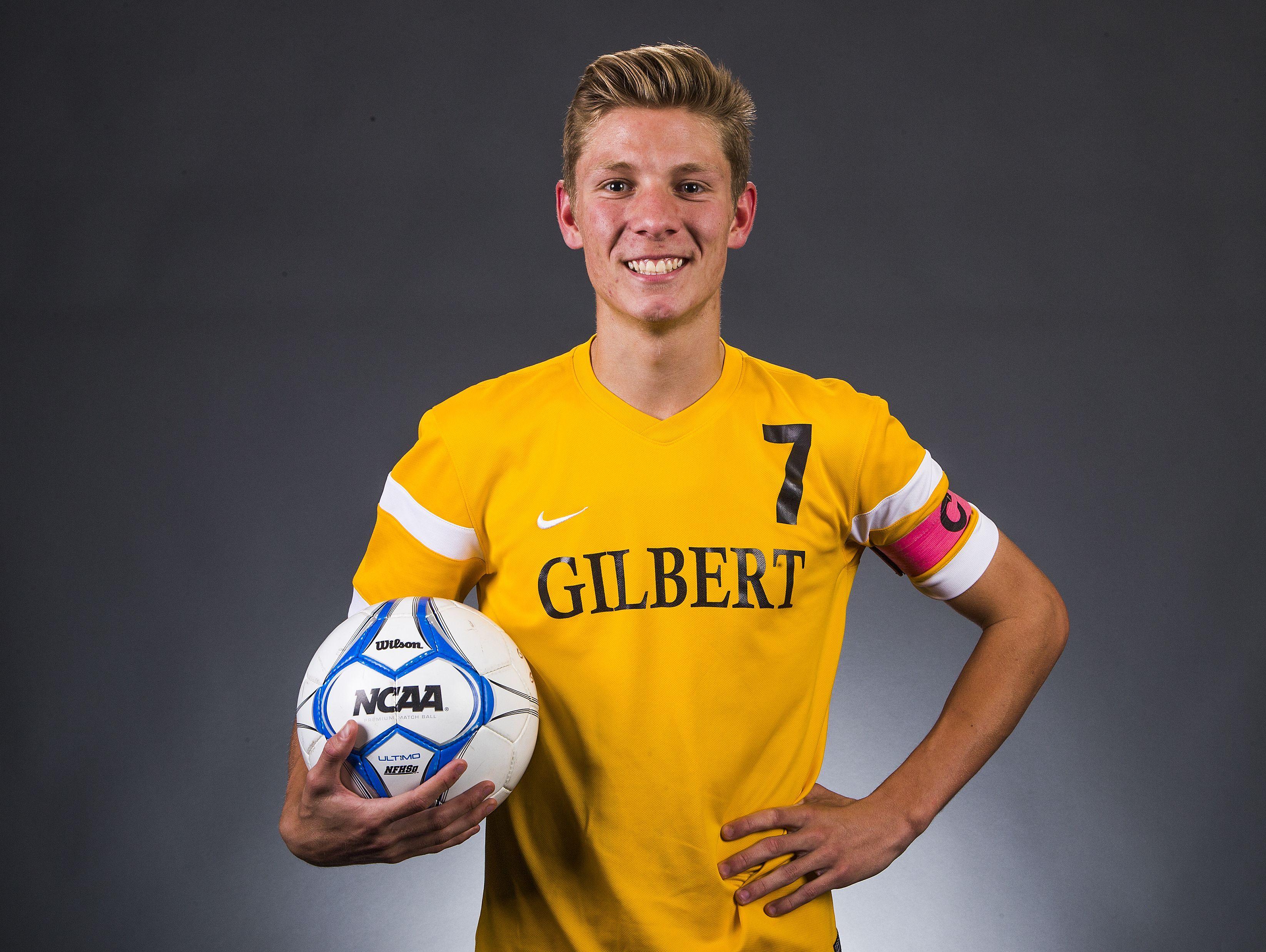 Gilbert senior forward Danny Baca is a finalist for the azcentral.com Sports Awards Big Schools Boys Soccer Athlete of the Year award.