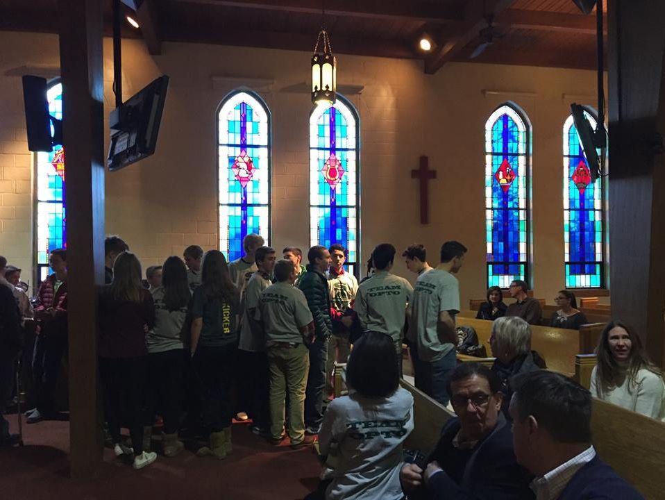 A prayer vigil was held for Sam Kell in 2015 at Trinity Lutheran Church in Utica.