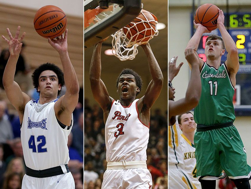 Left to right: Zach Gunn, Kris Wilkes and Cooper Neese were Supreme 15 selections on IBCA's All-State team.
