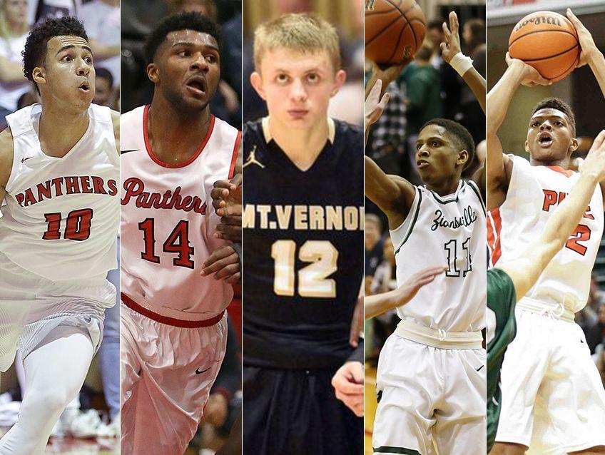 Left to right: Kobe Webster, Emmanuel Little, Michael Ertel, Isaiah Thompson and Isiah James.