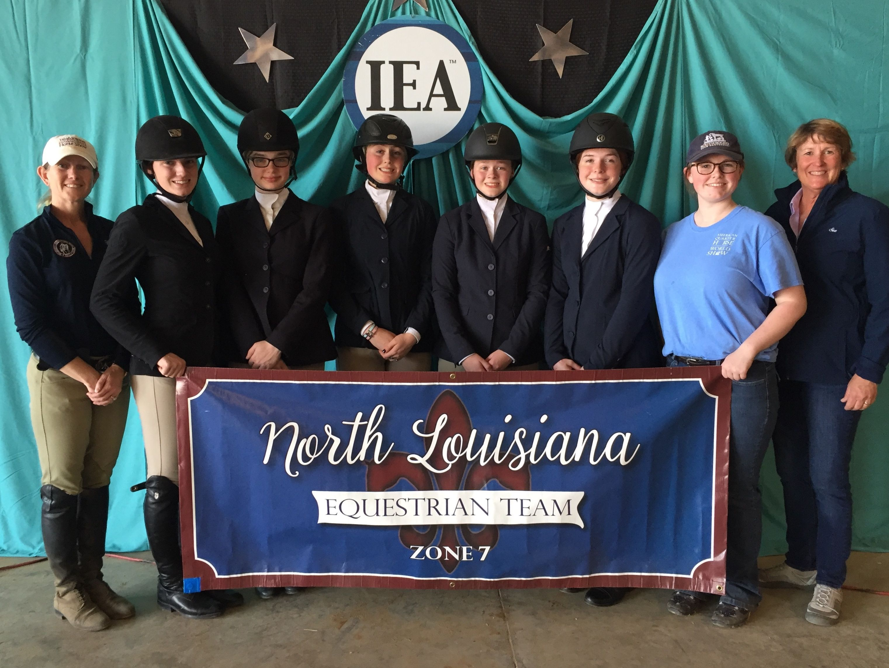 North Louisiana Equestrian IEA Riding Team captured second place recently in the International Equestrian Association Zone 7.