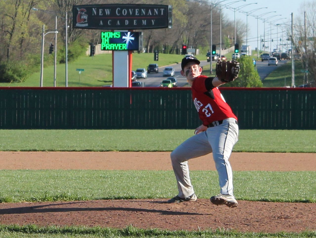 New Covenant Academy senior Ben Cannefax pitched a no-hitter Tuesday, March 28, 2017 in an 8-0 win over Pleasant Hope at Federal Protection Field in Springfield.