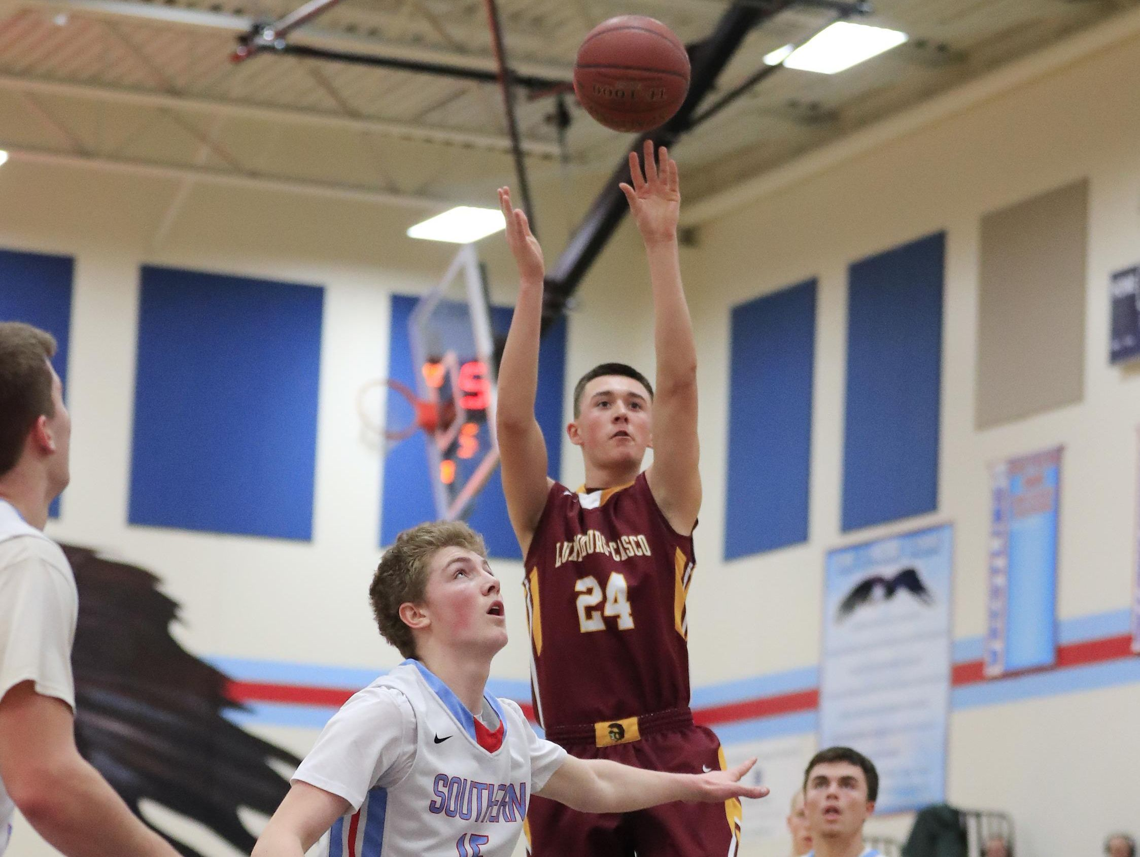 Luxemburg-Casco senior Bryce Te Kulve shot 53.8 percent (64-for-119) from 3-point range this season. The 6-foot-3 senior received honorable mention recognition on the Associated Press boys basketball all-state team.