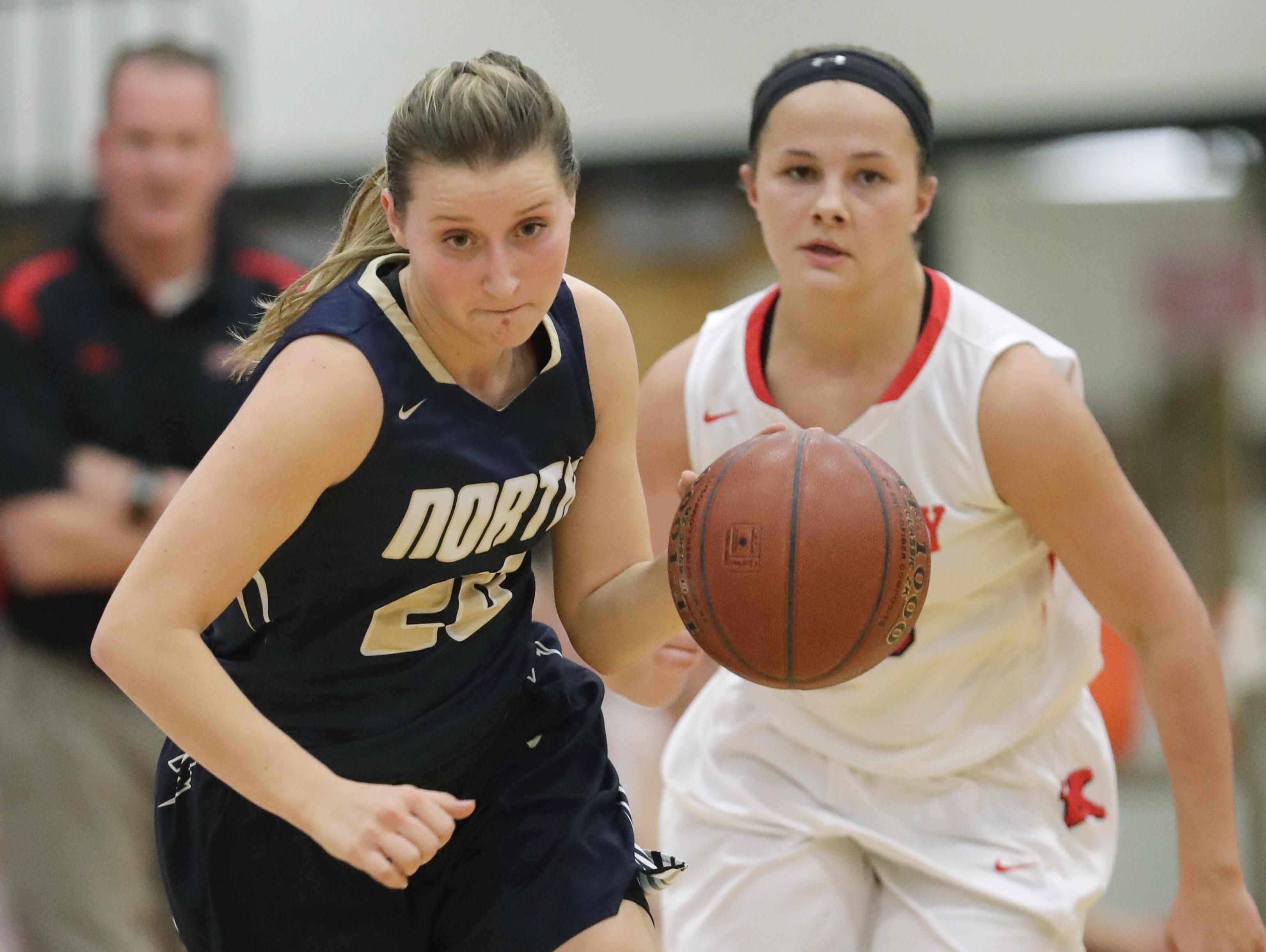 Sydney Levy of Appleton North, left, was the Player of the Year in the Fox Valley Association this season.