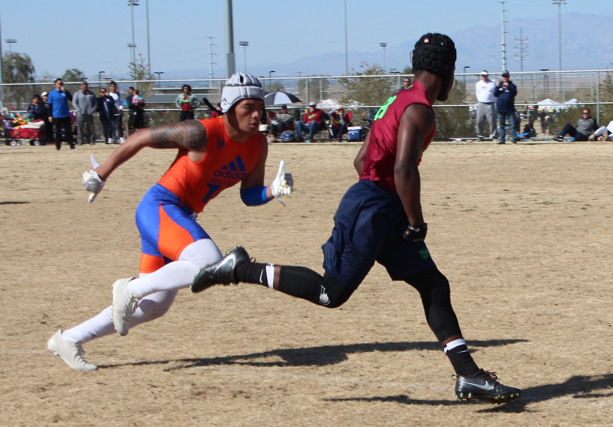 Five-star linebacker Palaie Gaoteote of Bishop Gorman is expected to take over as one of the leaders of the Gaels during his senior season. (W.G. Ramirez)