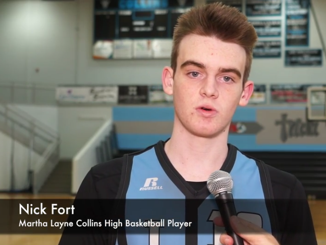 Collins basketball player Nick Fort was voted the winner of the Courier-Journal Metro Louisville Athlete of the Week Award presented by Norton Sports Health.