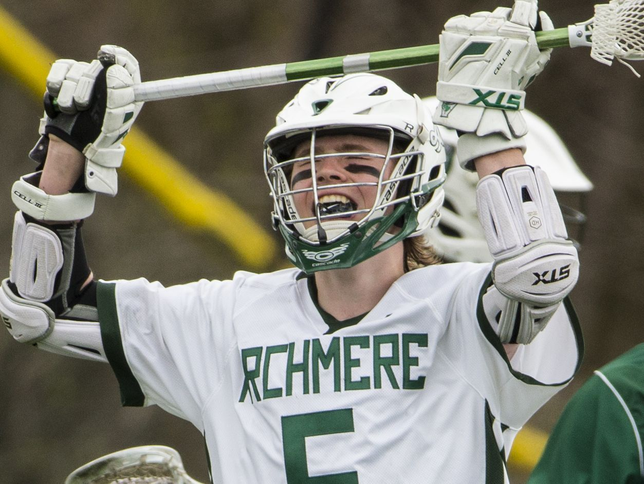 Archmere's Xavier Glavin reacts to a missed shot in the second half of Archmere's 12-7 win Saturday.