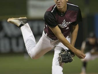 Hamilton senior Cole Bellinger, injured most of the season, is Pitcher of the Week after giving up two hits and striking out 12 in a 5-2 win over Brophy