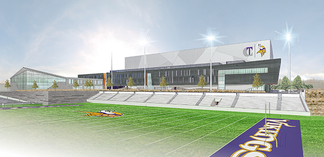 An architectural rendering of the Vikings' new football field at the team's practice facility (Photo: Minnesota Vikings)