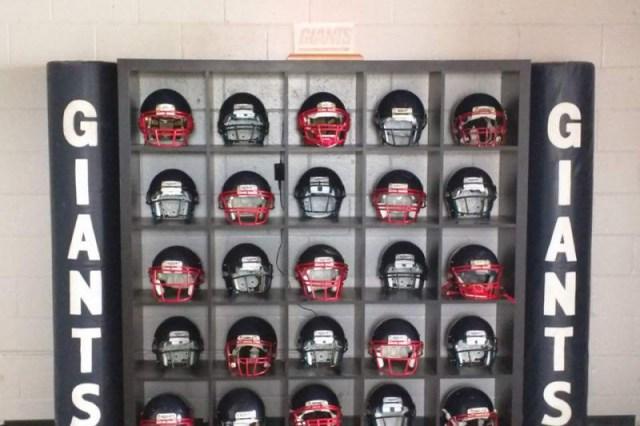 North Gloucester Giants helmets (Photo: GoFundMe)