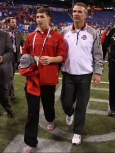 Nate Meyer and Urban Meyer (Photo: Cincinnati Enquirer)