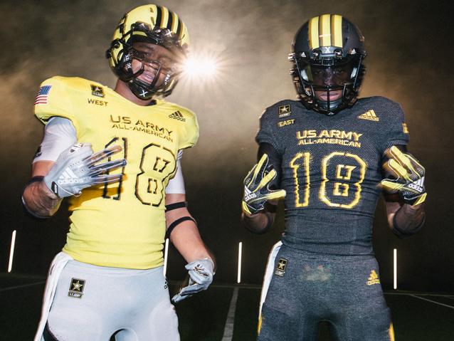The U.S. Army All-American Bowl uniforms (Photo: Adidas)