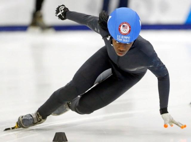 U.S. Olympic speed skater Maame Biney (Photo: Associated Press)
