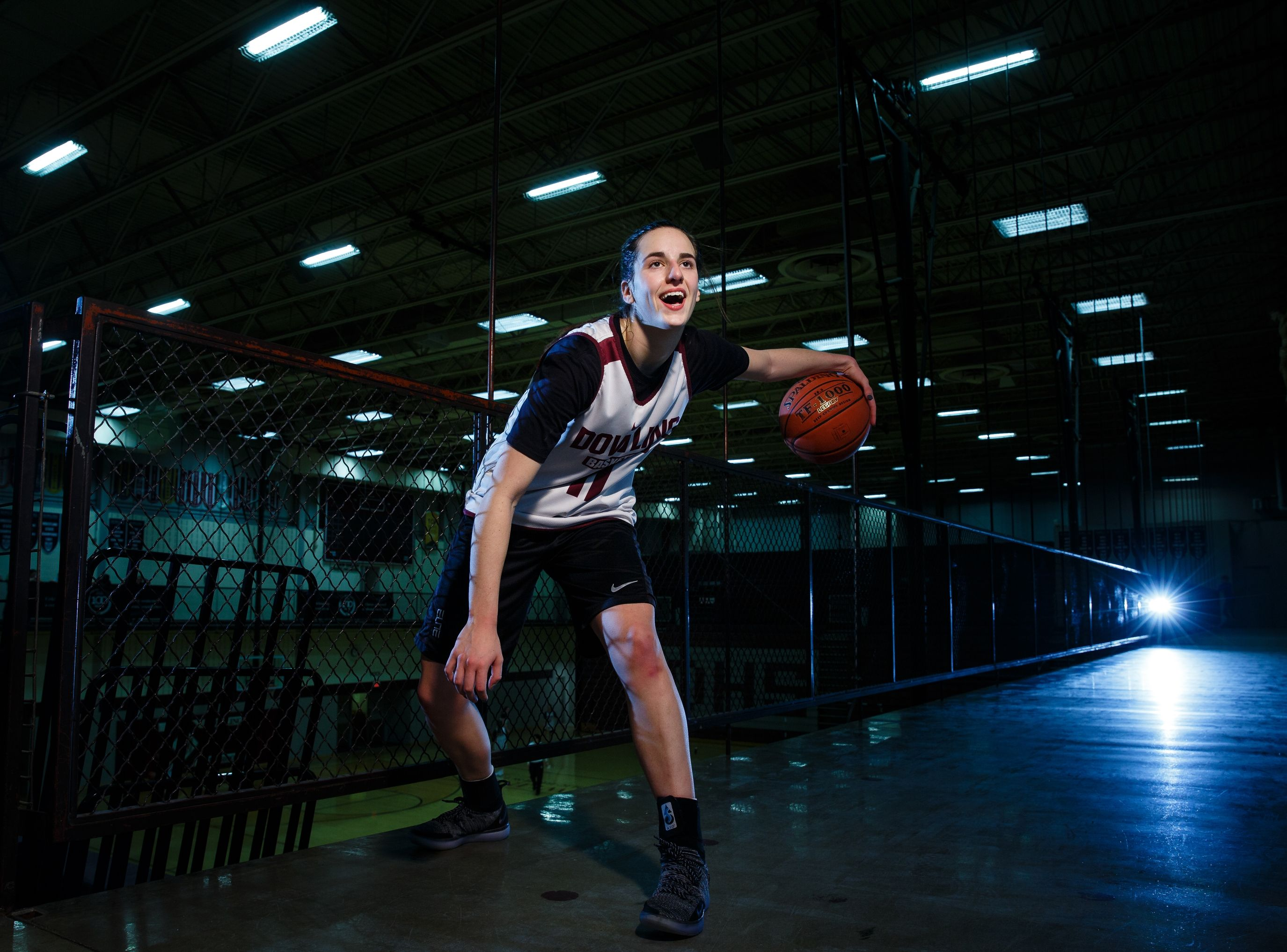 Dowling Catholic's Caitlin Clark poses for a photo during practice on Wednesday, Feb. 13, 2019 in Des Moines. Clark is considered one of the best girls' basketball players in recent Iowa history. (Photo: Brian Powers/The Register)