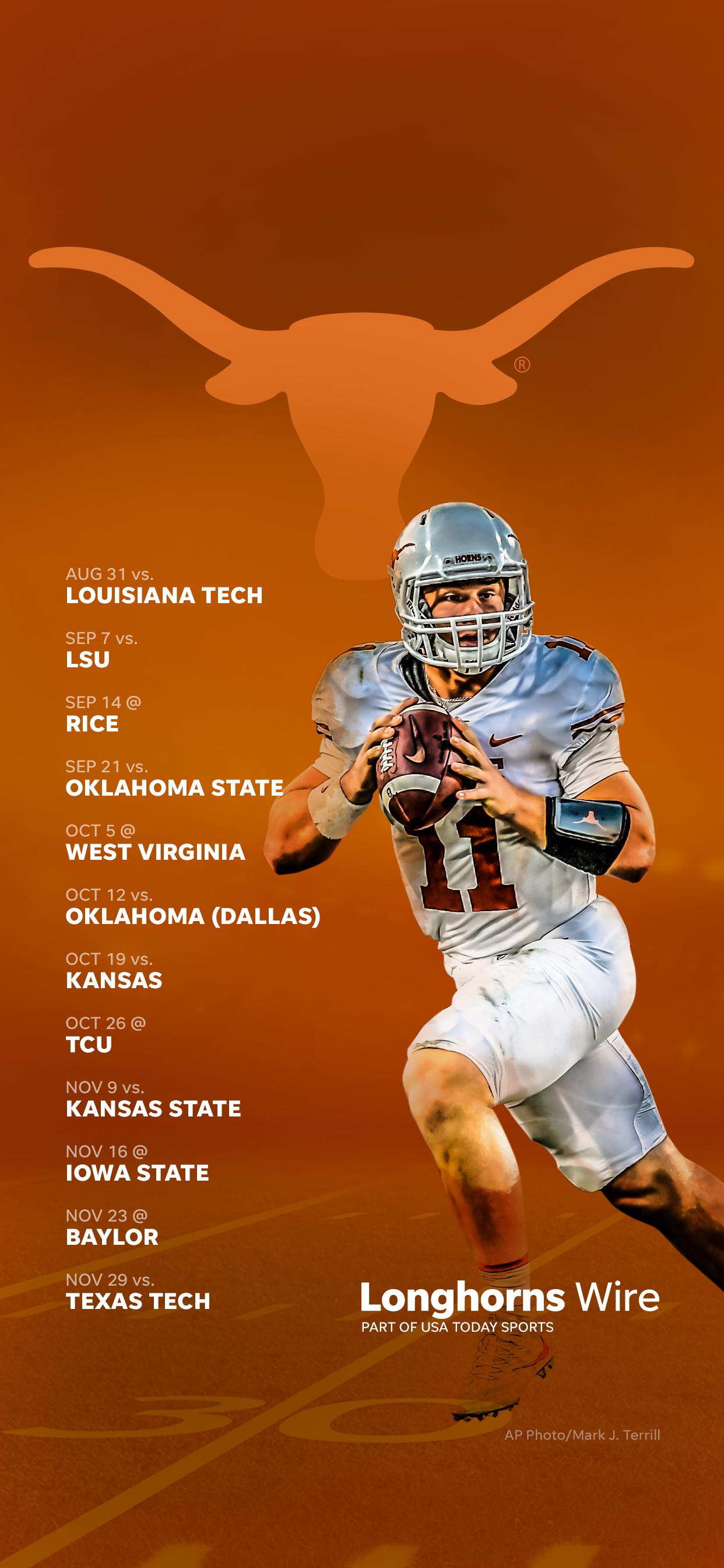 2019 Texas Longhorns Football Schedule Downloadable Wallpaper
